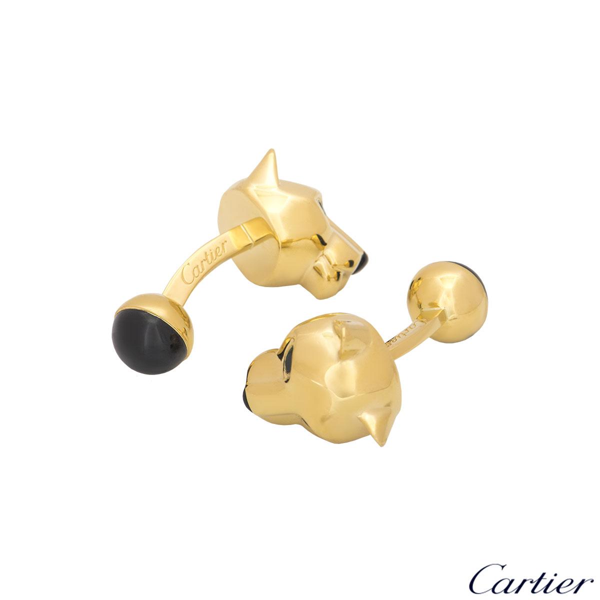 Cartier Yellow Gold Panthere De Cartier Cufflinks T1220747
